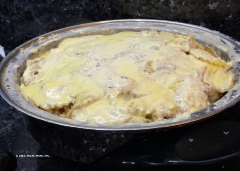 Baked Chicken in White Sauce - I would change this up if I try it.