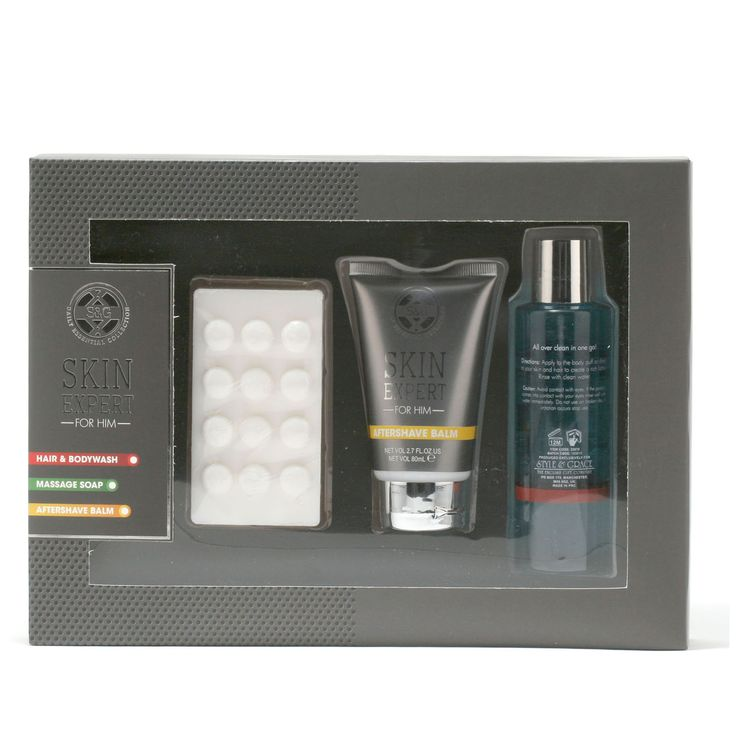 Style & Grace Pamper Pack Hair & Body Wash/After Shave Balm/Massage Soap