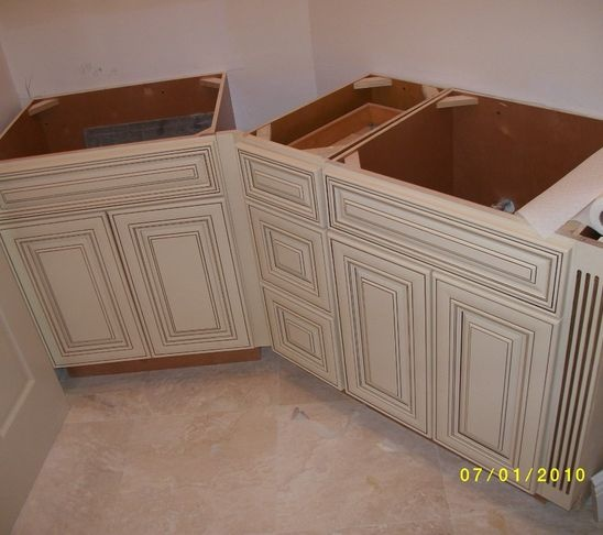 Glazed Crown Molding : White kitchen cabinets with pewter glaze google search