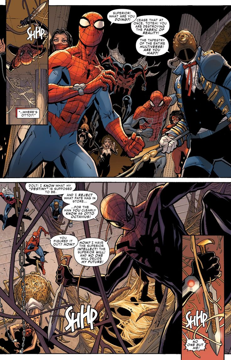 Superior spider man destroys the fabric of reality or for The fabric of reality