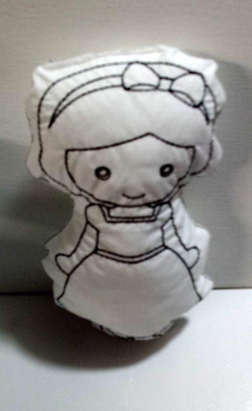 Disney Kids Snow White l Color Me Dolls