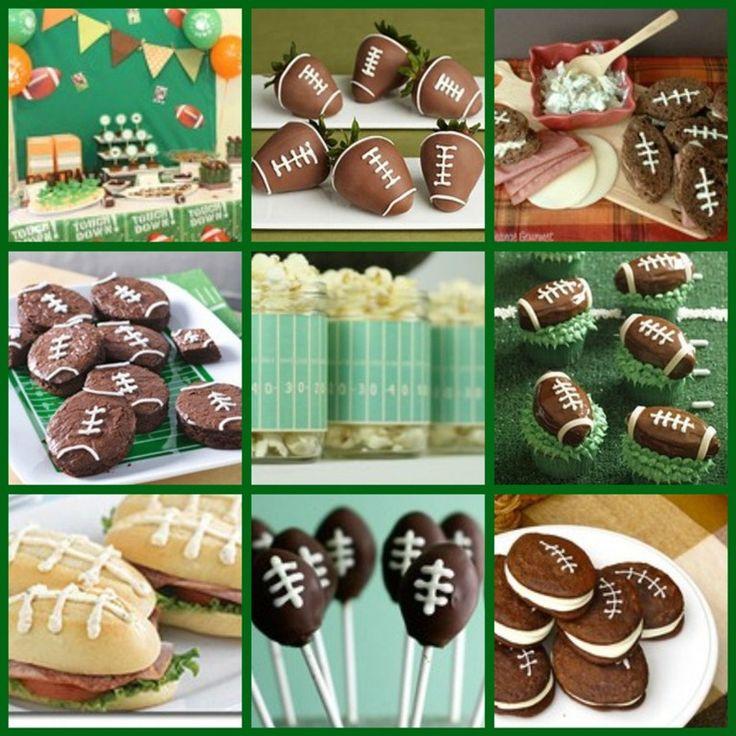 Great ideas for a football party: Football Ideas, Football Seasons, Football Food, Bowls Parties, Food Ideas, Super Bowls, Football Parties, Parties Ideas, Football Theme