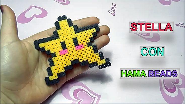 """Tutorial Stella con Pyssla /Hama Beads """"Como Hacer Una Estrella de Hama """""""