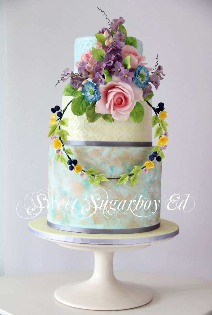 Vintage French Wedding Cake  2 August 2014