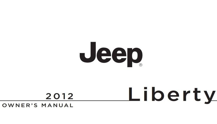 Jeep Liberty 2012 Owner's Manual has been published on