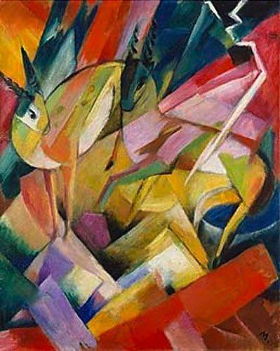 Franz Marc - Bergziegen - https://www.paintgallery.de/franz_marc/bergziegen.htm