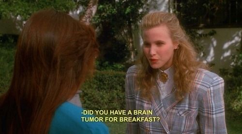 """Most Memorable One-Liners from """"Heathers"""", my most favorite """"what's your damage, Heather""""?"""