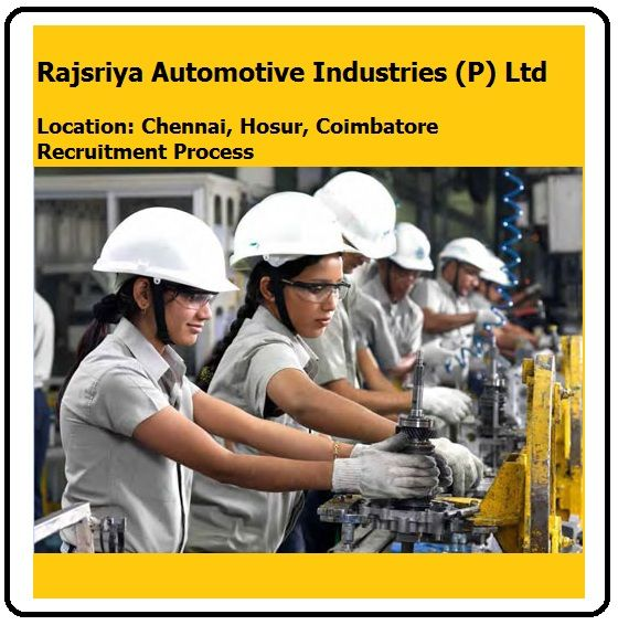 Rajsriya Automotive Industries Jobs\ Diploma,Engineering,ITI\ Mechanical and Electrical Jobs Apply Now - Today Fresher Jobs