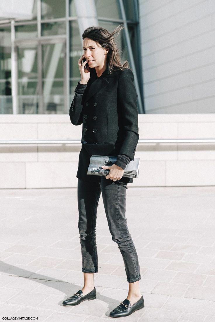 Géraldine Saglio ... Black with a touch of metallic