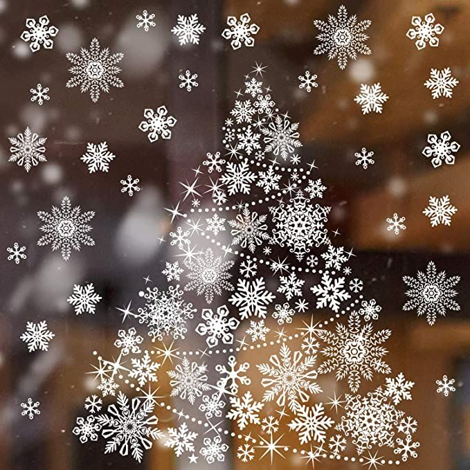 Boao Christmas Tree Window Clings Decals Christmas