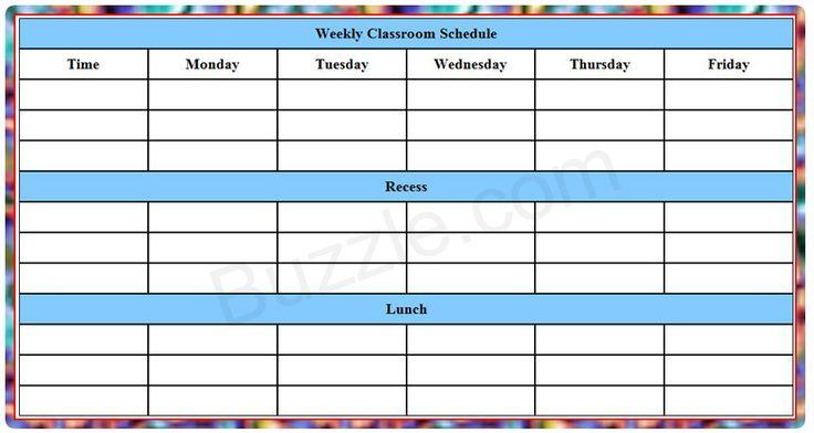 25 b sta class schedule template id erna p pinterest. Black Bedroom Furniture Sets. Home Design Ideas
