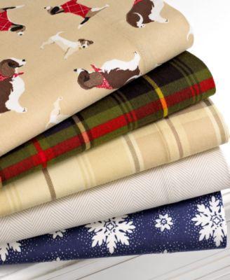 Martha Stewart Collection Bedding Novelty Flannel Sheet
