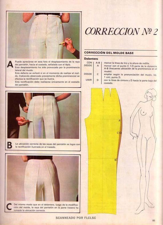 Корректировка выкройки брюк Корректировка выкройки брюк #2