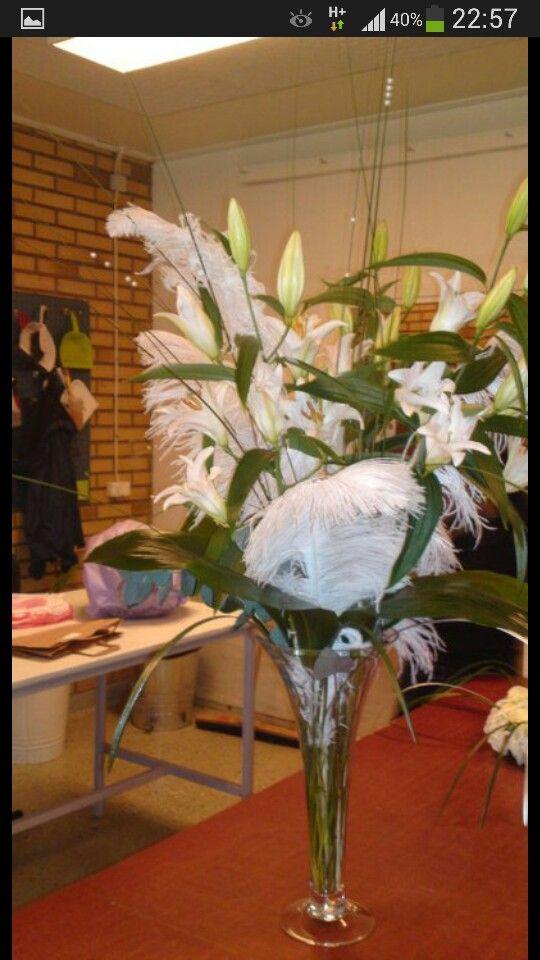 Dekoration... kunden älskade fjädrarna!