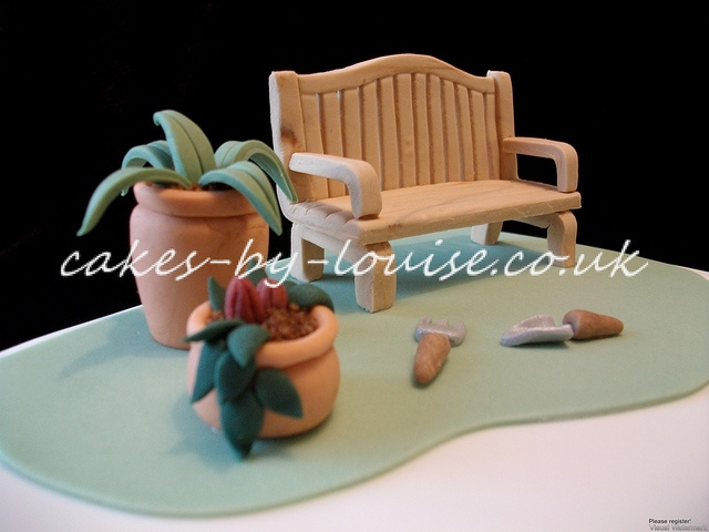 Garden Bench Cake Topper