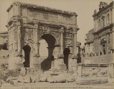 Roma-Arco-Trionfale-Settimio-Severo-old-Photo-1880-Rome-Arc-de-Triomphe-Italy