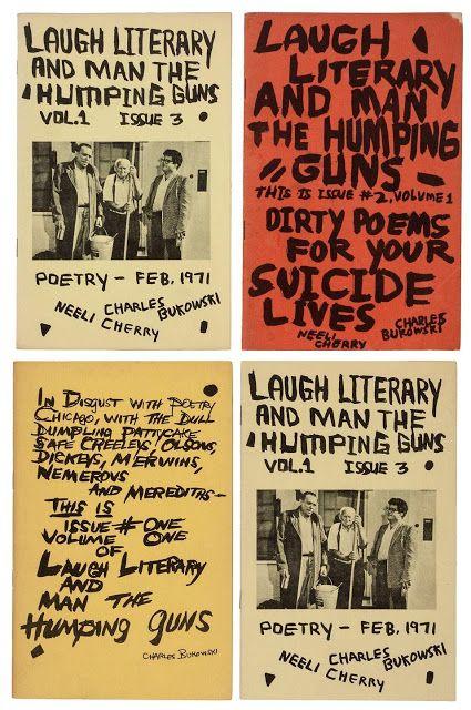"""Laugh Literary and Man the Humping Guns"" fanzines by Charles Bukowski"