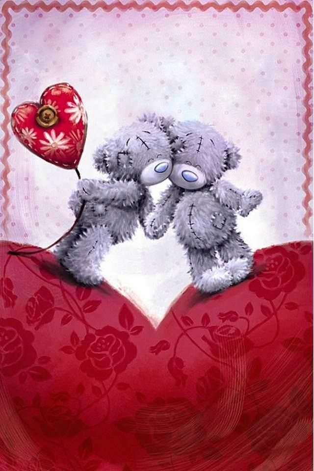 Дню, открытка тедди любовь
