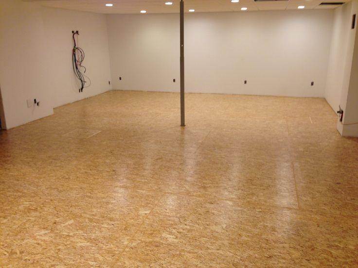 Using osb flooring over dimple board basement slab