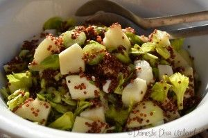 Domestic Diva: Pear and Red Quinoa Salad with Maple Dressing