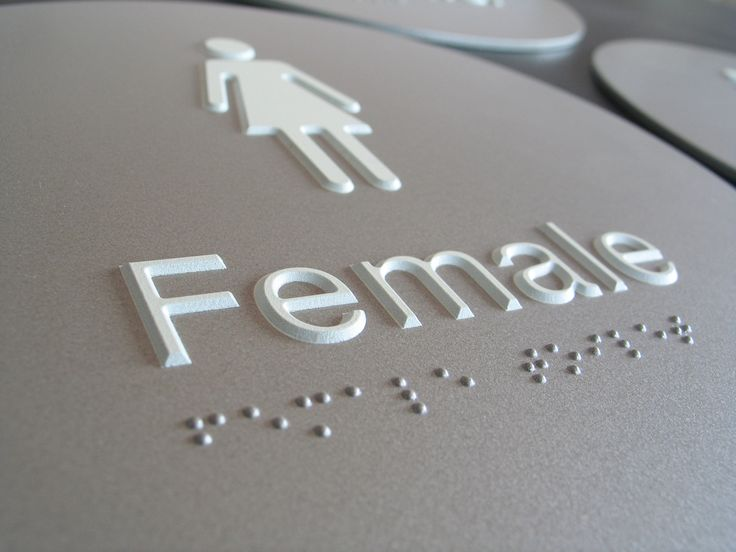 Custom Moulded Acrylic Braille Sign. Low gloss 2pac Metallic Grey Finish #braillesignsupplies #brailleform #braille #signs #tactile #signage #australia #braillesign #custom #moulded #wayfinding #braillesignage #accessible #vision #impaired #accessibility #amenities #architecture