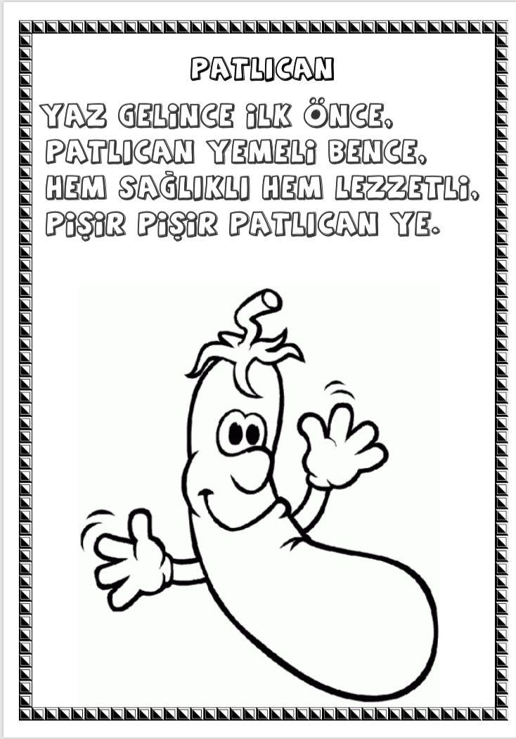 Original Meyve Ve Sebze Boyama Editimhane Koleksion