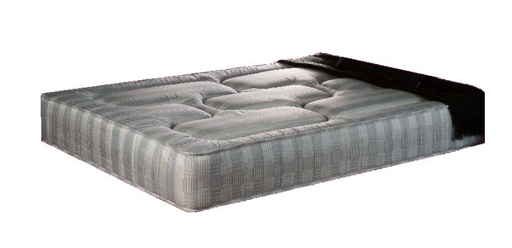 3ft x 7ft Royal Grey Ortho Mattress - £299.95 - The Royal Ortho is a superb firmer mattress and now, due to popularity is available as a mattress on it's own with no base.  The mattress is deep and plush with an open coil ortho spring unit.  It is a firm (but not hard) and supportive mattress which is well padded on both sides with deep layers of upholstery and then covered in a stylish grey damask fabric.