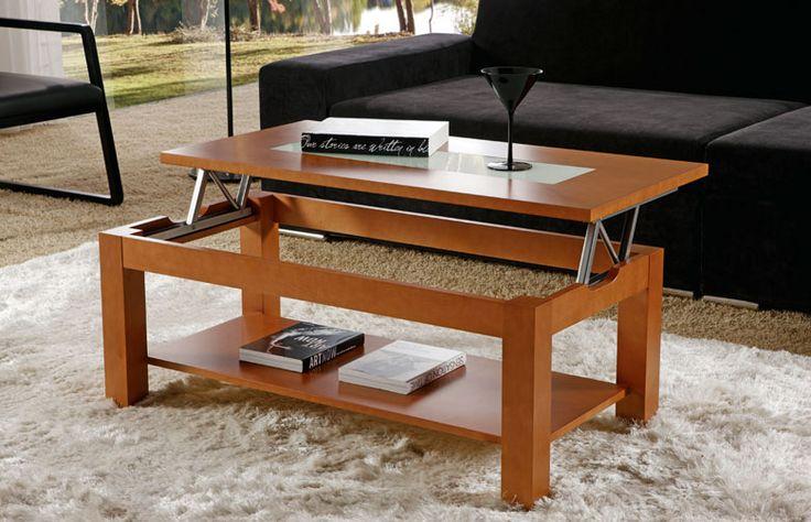 mesa centro con bandeja elevable cristal rebaja sagunto valencia