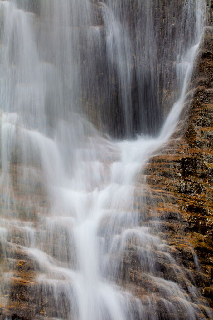 """Margaret Falls is located in the Lake Shuswap area of British Columbia. In the Falls is a cave and it made a very interesting subject during a slow shutter speed. A young photographer recently asked me, """"why bother with a tripod?"""" Here is your answer."""