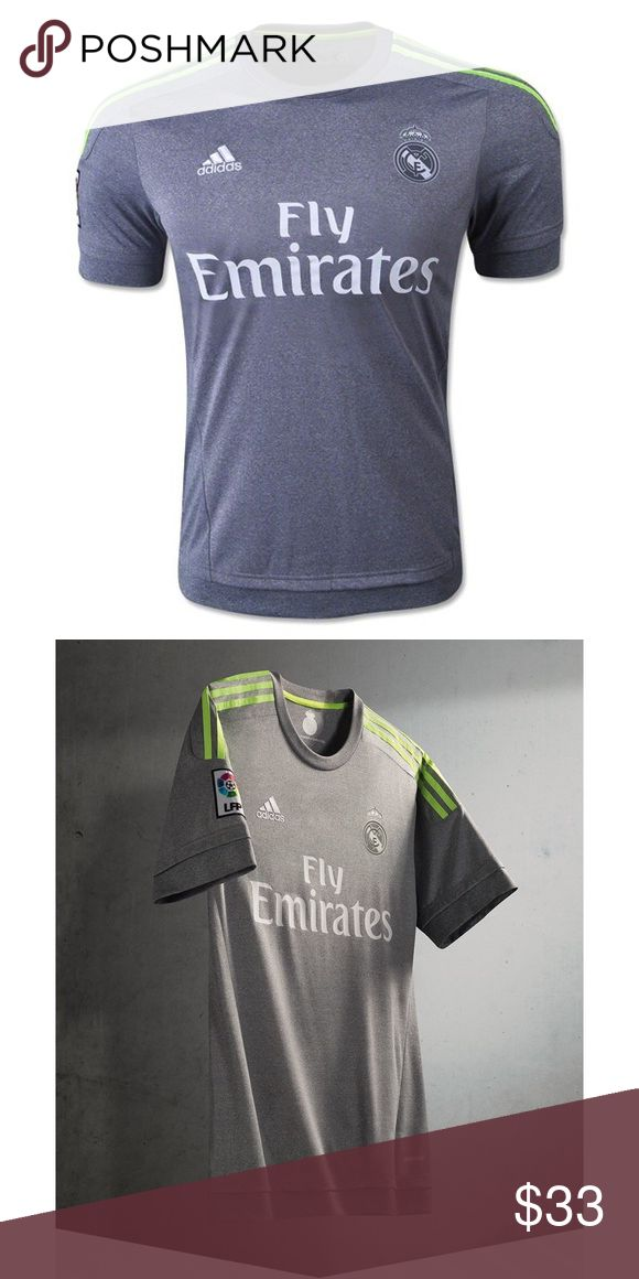 Real Madrid Away Jersey 2015/2016 climacool® provides heat and moisture management through ventilation Club logo: Premium badge Regular fit Sign-off heat transfer on back neck melange fabric 100% polyester single jersey Adidas Shorts Athletic