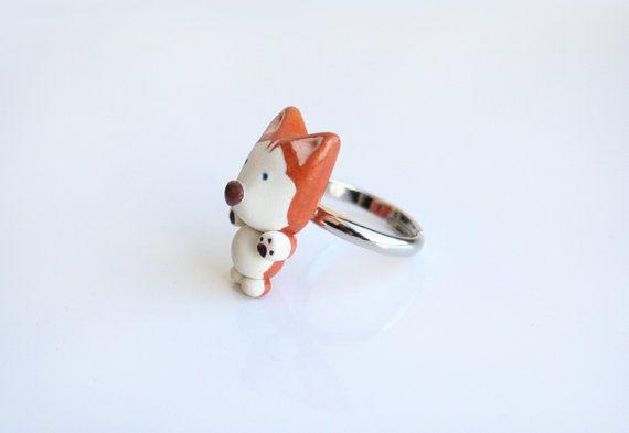Anello rosso Siberian Husky