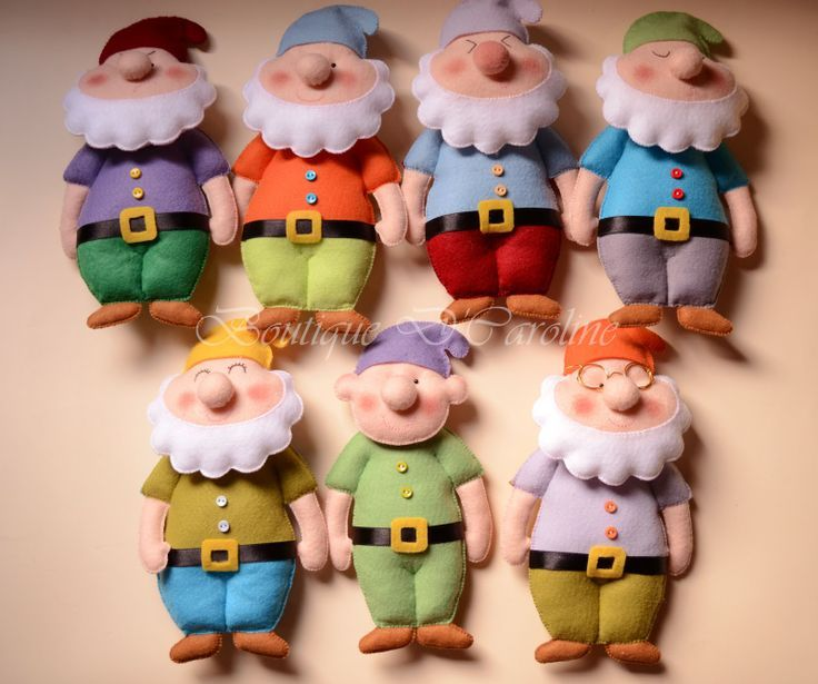 felt 7 dwarfs there is no pattern that I could find but lots of tips and short videos on this site.