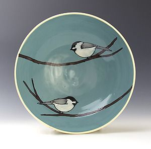 Chickadee Bowl: Lacey Goodrich: Ceramic Bowl | Artful Home