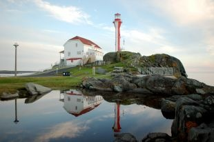 Cape Forchu Lighthouse, Yarmouth, Nova Scotia wins top place in Canada.