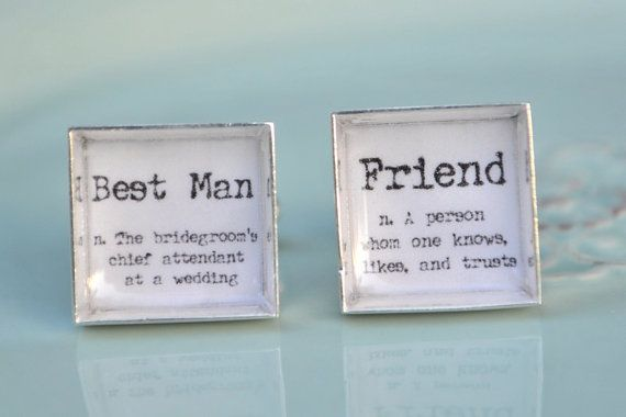 Gift For Best Friend On Wedding Day: Best Man And Friend Definition Word Cufflinks