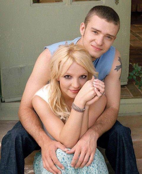 Justin Timberlake (6) and Britney Spears (7) notice Justn friendly doubting eyes, the curved eye brows and Britney's more self confident bright eyed quality.