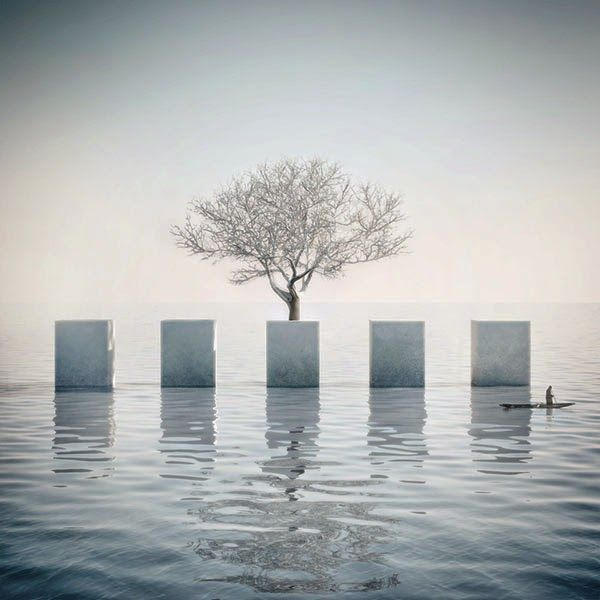 Was ist Metaphysik?: Surreal Illustrations by Michele Durazzi - Faith is Torment