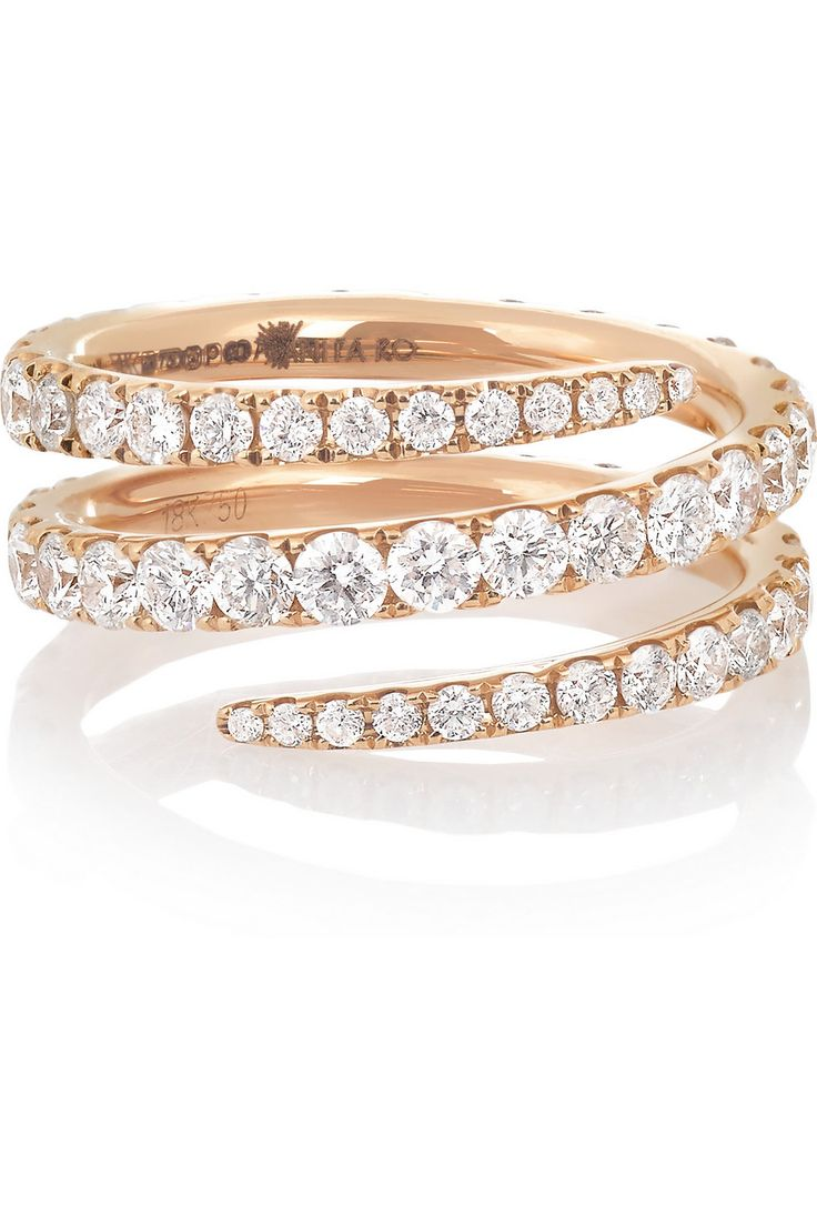 Anita Ko | Coil 18-karat rose gold diamond ring | NET-A-PORTER.COM