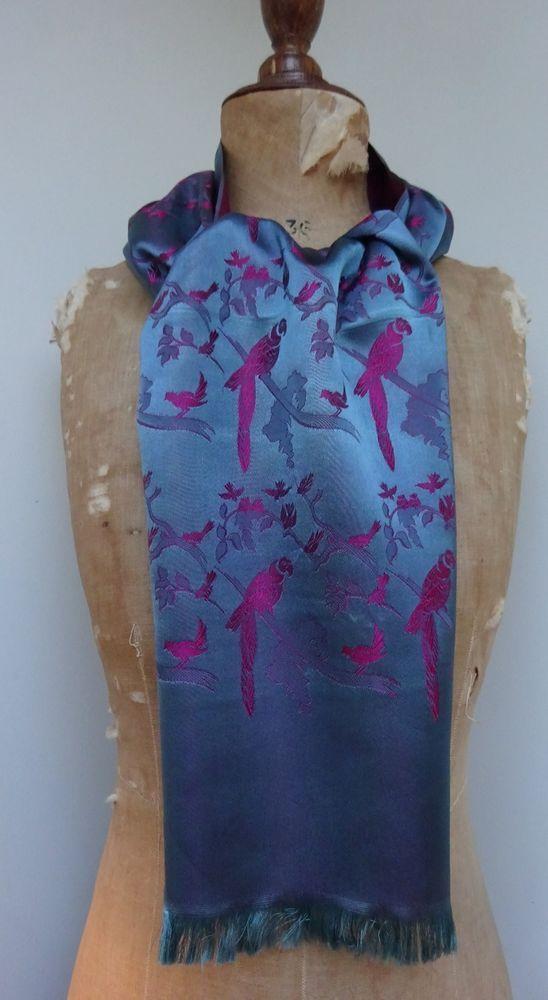 Vintage Satin Scarf 50's 60's 70's  Men's Coat Gentleman's Opera Wedding Cravat