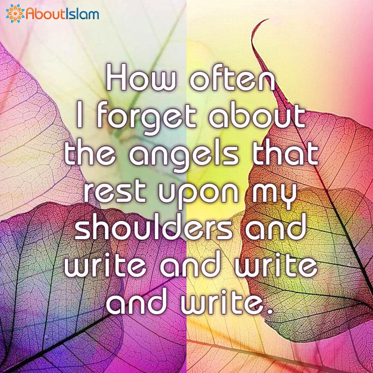 A reminder for all. Angels are sat writing....   #Reminder #Islam #GoodDeeds