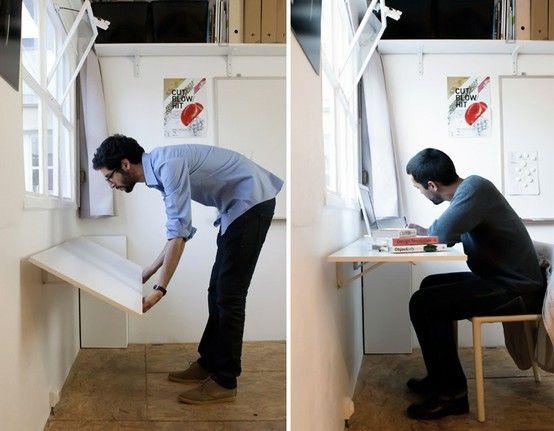 hidden desk by Streegy