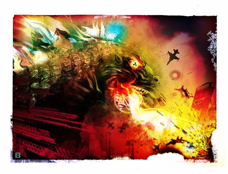 Godzilla tribute piece