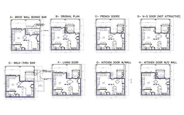 Kerti konyha alaprajzok — Beltéri és külső bejárati ajtók tervezése | HomeOfficeDekoráció