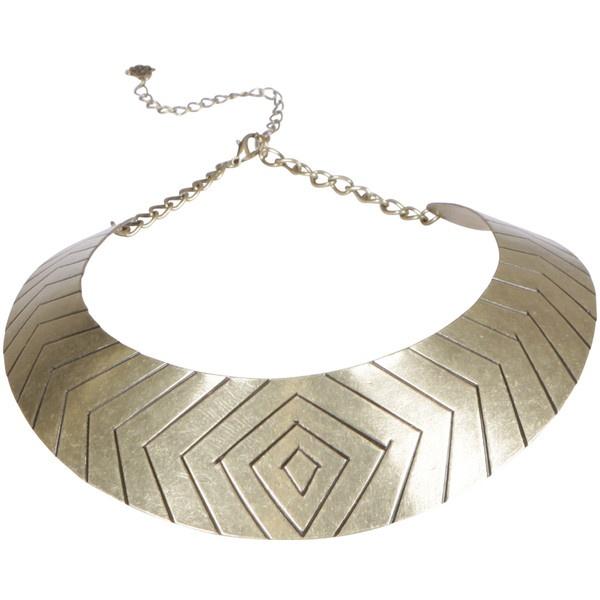 Gathering Eye Gold Cleo Necklace ❤ liked on Polyvore