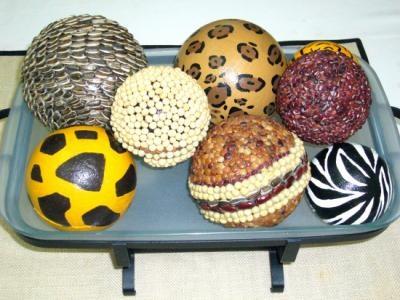 set de esferas decorativas esferas semillas,tergopol,papel cebolla hecho a mano,papel mache