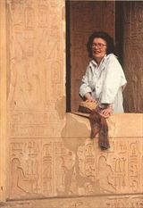 Elizabeth Peters. One of my favorite authors. Mysteries in Egypt.
