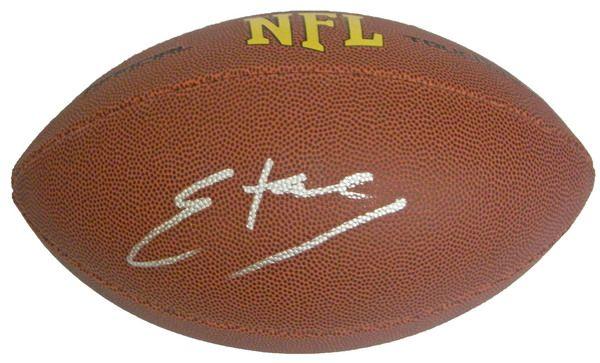 Edgerrin James Signed Wilson Touchdown Full Size NFL Football - Schwartz COA