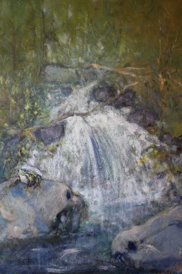 "Saatchi Art Artist simone Butturini; Painting, ""The frog"" #art"
