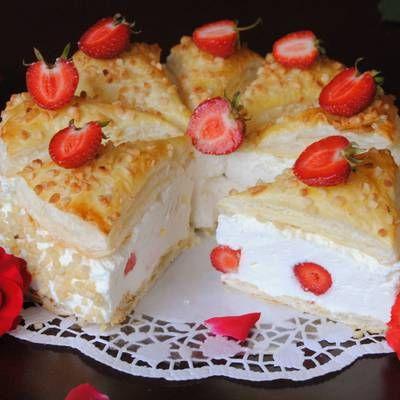 Francuski torcik z truskawkami - DoradcaSmaku.pl