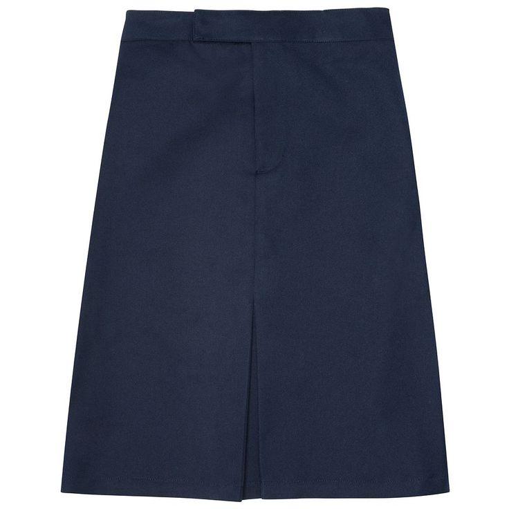 Girls 4-20 & Plus Size French Toast School Uniform Knee-Length Pleated Skirt, Size: 10 Plus, Blue (Navy)